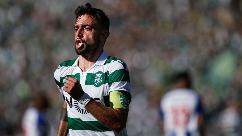 Bruno Fernandes tem contrato com o Sporting até 2023. Foto: Rodrigo Antunes/Lusa