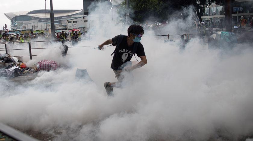 Manifestações em Hong Kong têm abalado a região. Foto: Jerome Favre/EPA