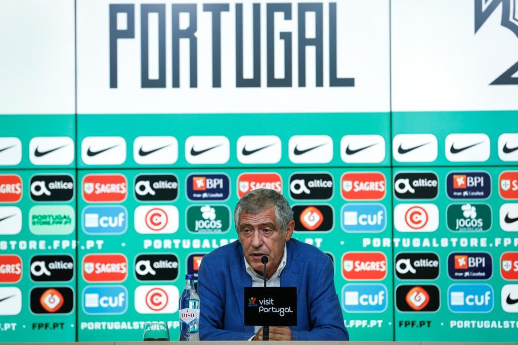 Fernando Santos anuncia as escolhas para o Euro 2020, no dia 20 de maio Foto: Rodrigo Antunes/Lusa