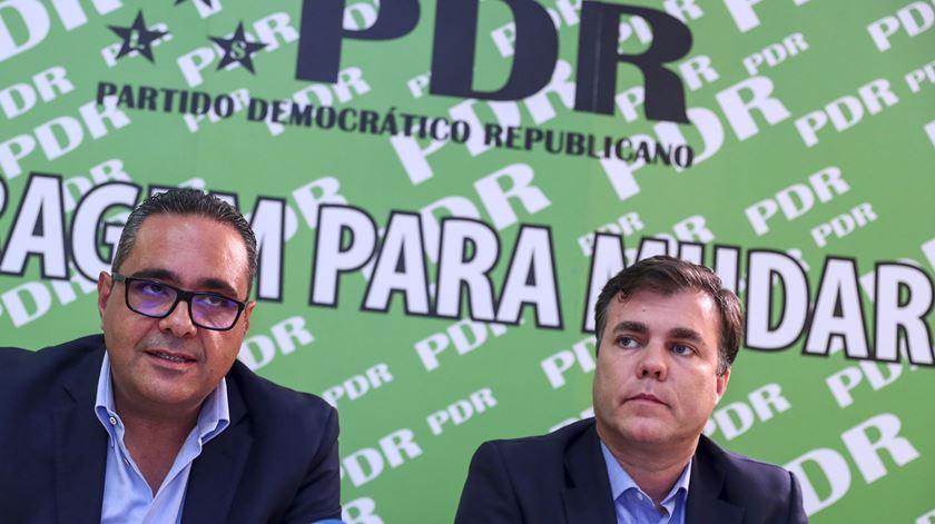 Pedro Pardal Henriques e Bruno Fialho do PDR. Foto: António Cotrim/Lusa