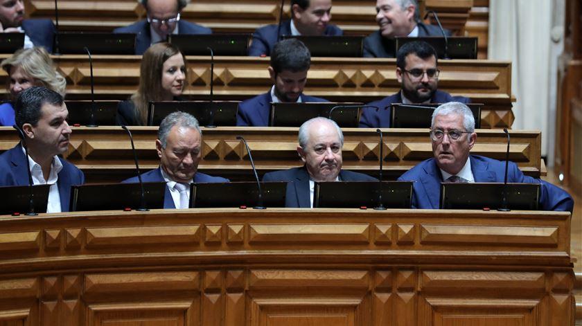 Bancada parlamentar do PSD fotografada no início da XIV legislatura, no final de 2019. Foto: Miguel A. Lopes/Lusa