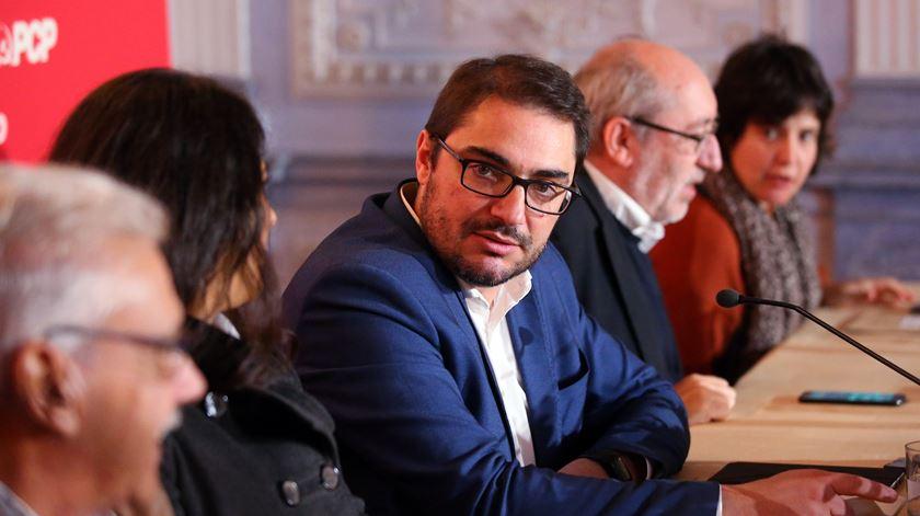 João Oliveira revelou sentido de voto dos comunistas. Foto: Nuno Veiga/Lusa