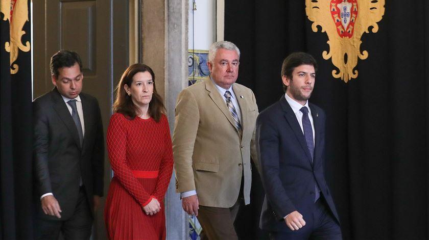 A líder parlamentar, Cecília Meireles, foi um dios elementos da delegação que foi a Belém. Foto: Tiago Petinga/Lusa