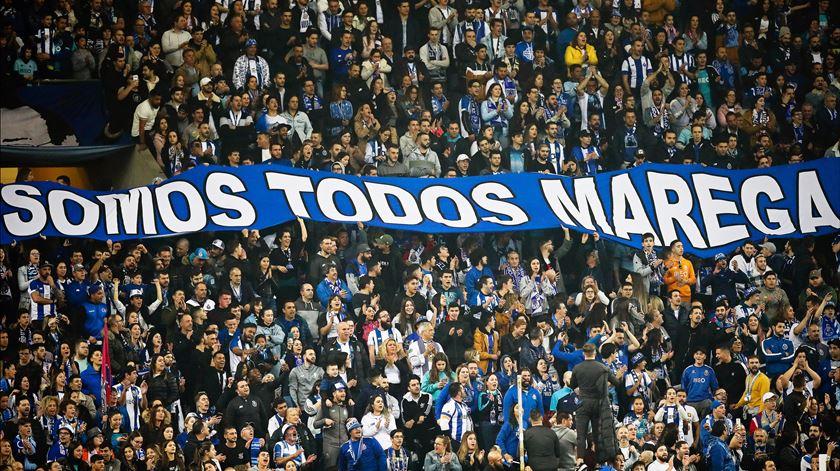 Adeptos do FC Porto manifestaram apoio a Marega. Foto: José Coelho/Lusa