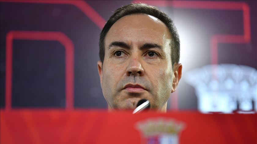 António Salvador reconduzido na SAD do Sporting de Braga. Foto: Hugo Delgado/Lusa