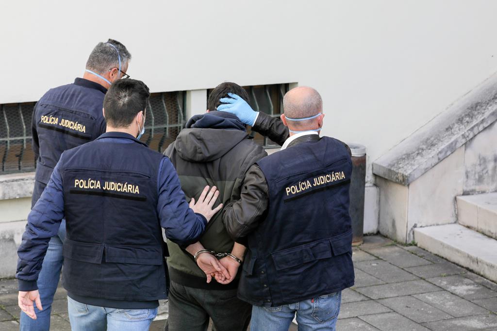 Sandro Bernardo, pai de Valentina, na altura da detenção pelas autoridades. Foto: Paulo Cunha/Lusa