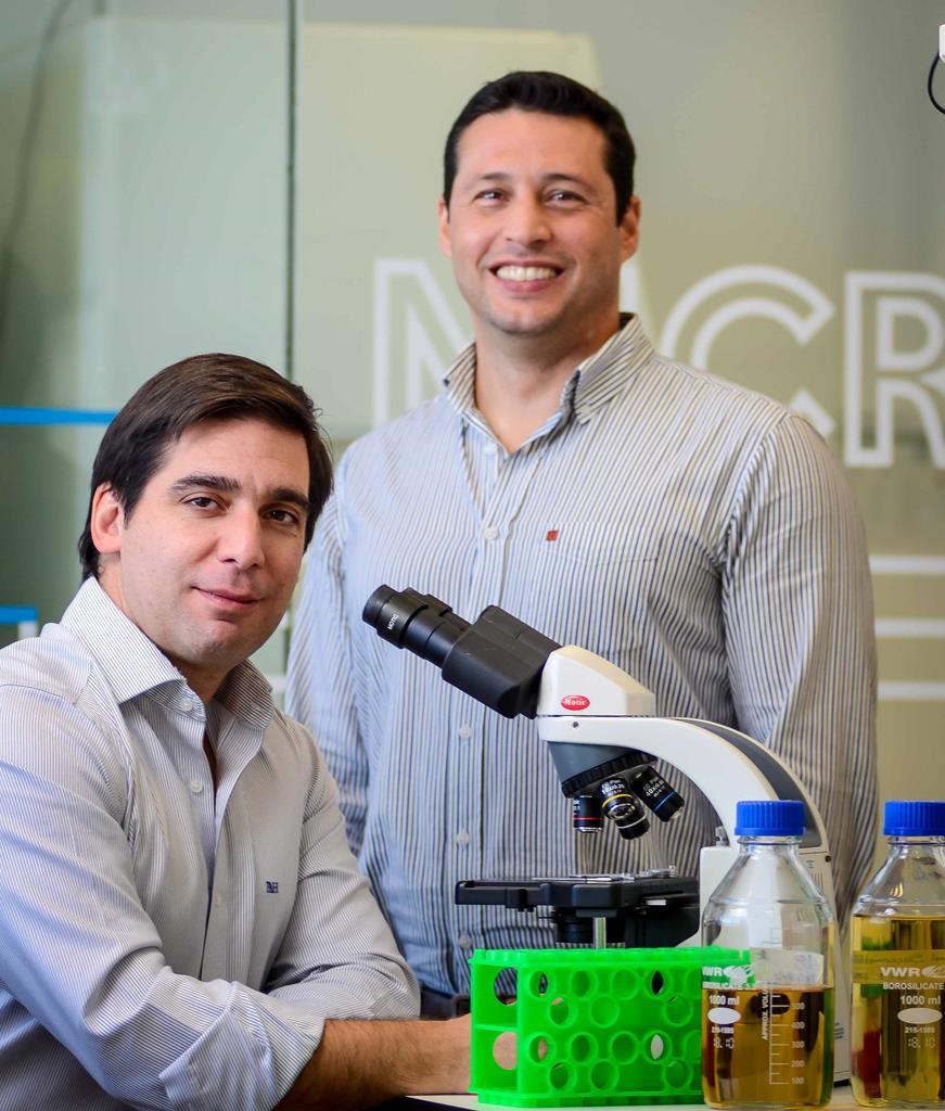 Pedro Madureira, diretor científico e Co fundador (à esquerda).Bruno Santos, CEO e Co fundador da Immunethep (à direita). Foto: DR
