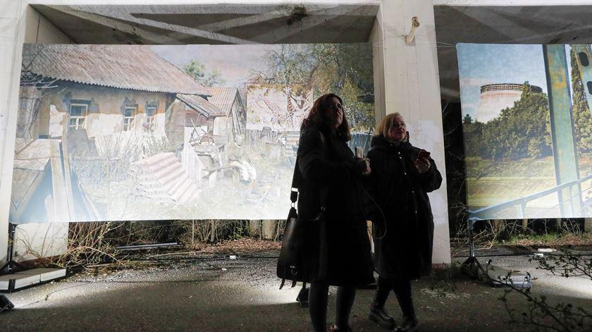 Exposição sobre Prypyat assinala 35 anos do desastre nuclear de Chernobyl. Foto: Sergey Dolzhenko/EPA