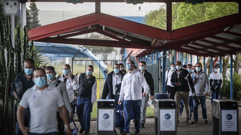 Fábrica da Autoeuropa retoma atividade após paragem devido a pandemia covid-19. Foto: Mário Cruz/Lusa