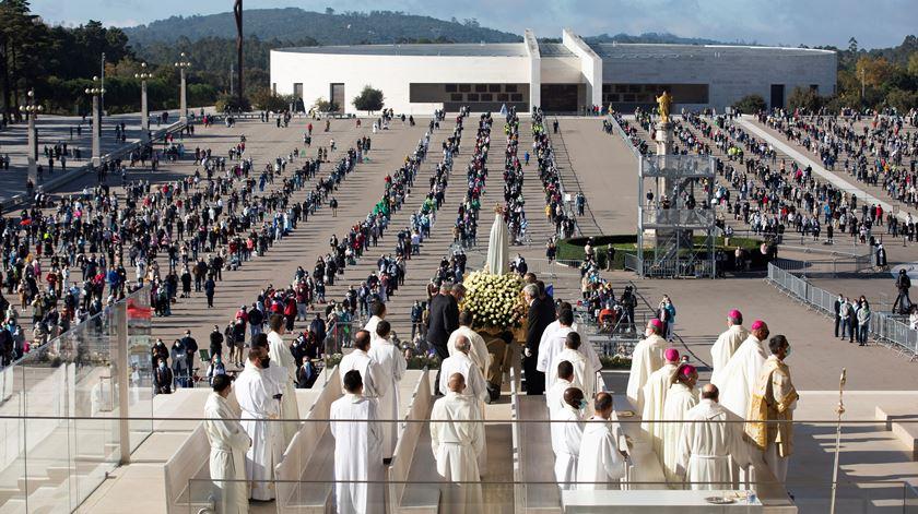Santuário prepara-se para evento religioso de vulto. Foto: Paulo Cunha/Lusa