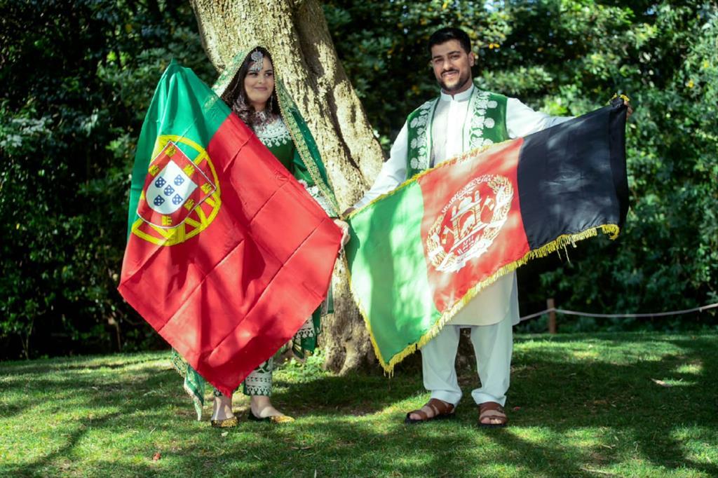 Fazal e Ana Bela casaram-se quando o afegão veio viver para Portugal. Foto: DR
