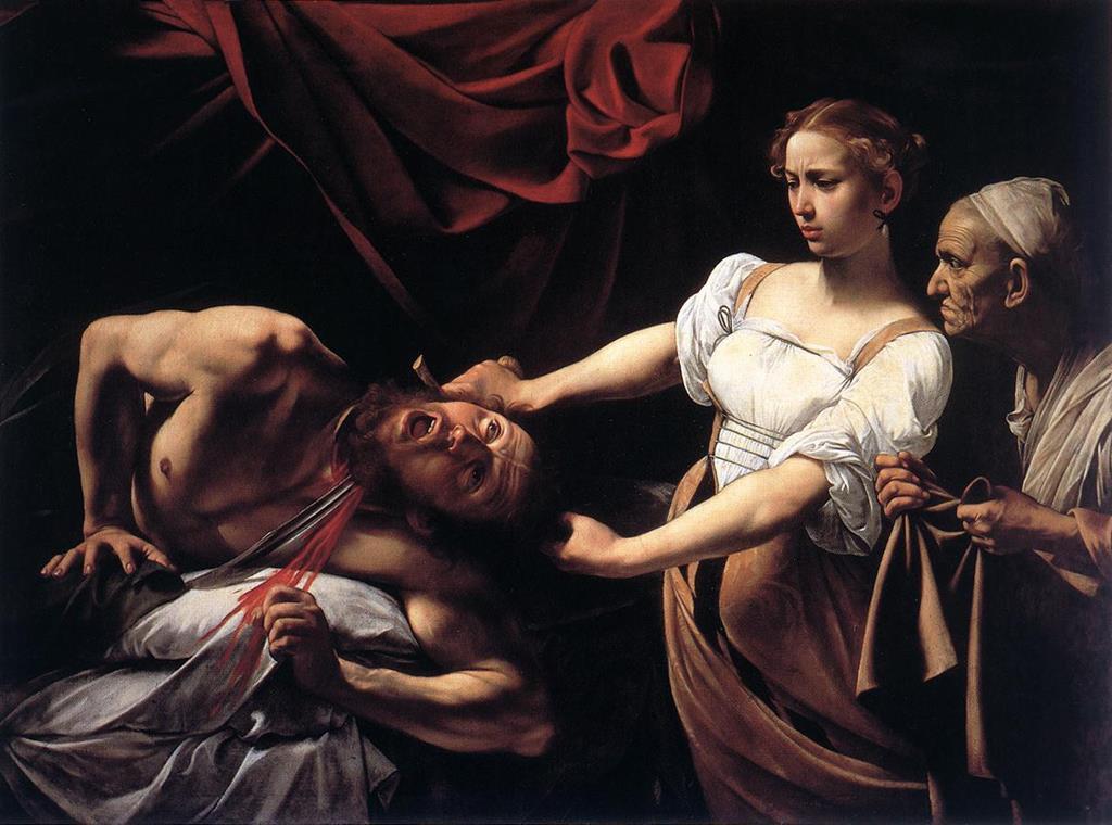 Judite e Holofernes é um quadro de inspiração bíblica, de Caravaggio. Foto: DR