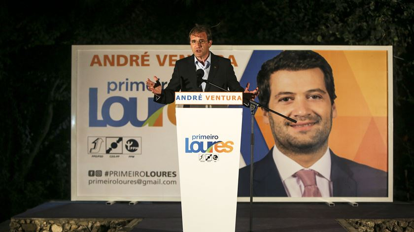 Passos Coelho na apresentação da candidatura de André Ventura. Foto: Nuno Fox/Lusa