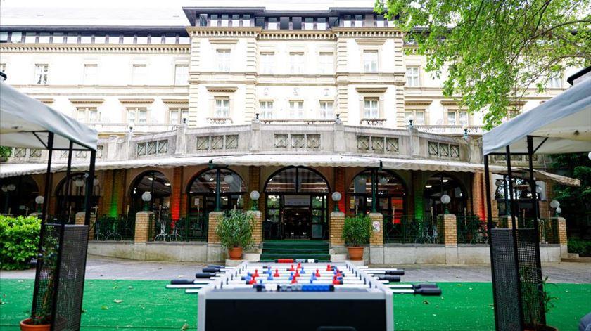 Hotel da seleção em Budapeste. Foto: FPF