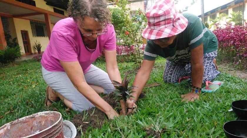 Geni Lloris e Raimunda Paixão, missionárias na Amazónia. Foto: Geni Lloris