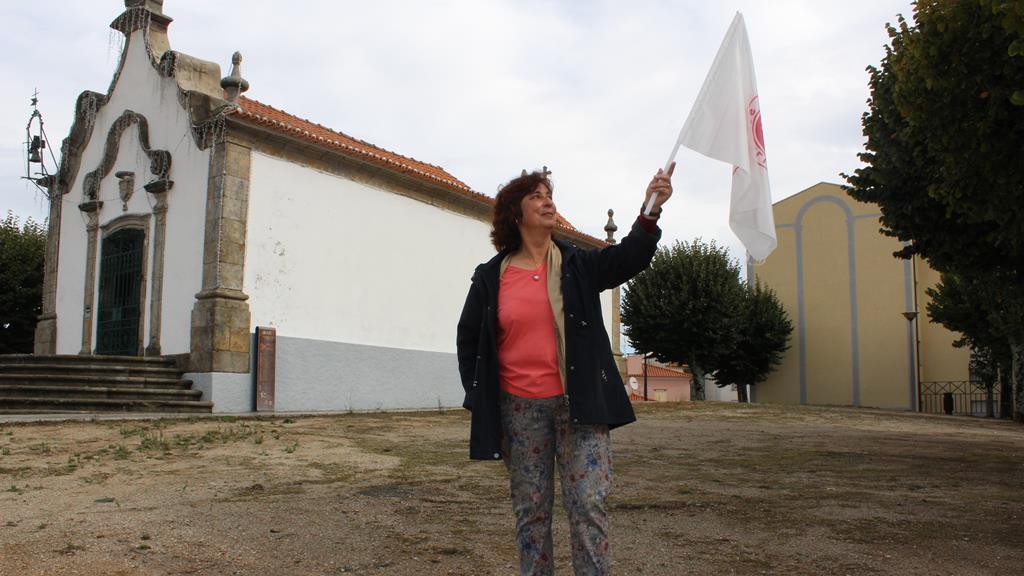 Glória Cardoso Lourenço apresenta a única lista concorrente em São Paio. Foto: Liliana Carona/RR