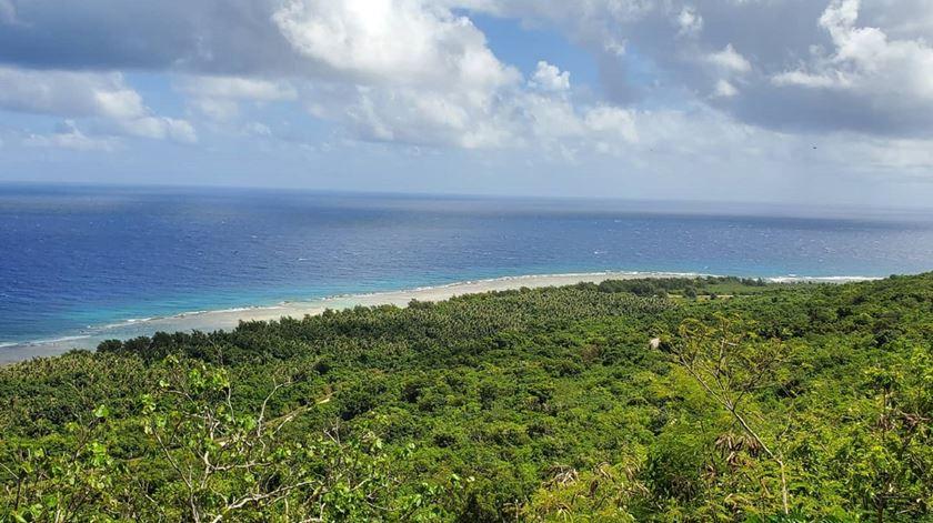 Vista sobre o mar na ilha de Guam. Foto: Carlota Plantier LeFon