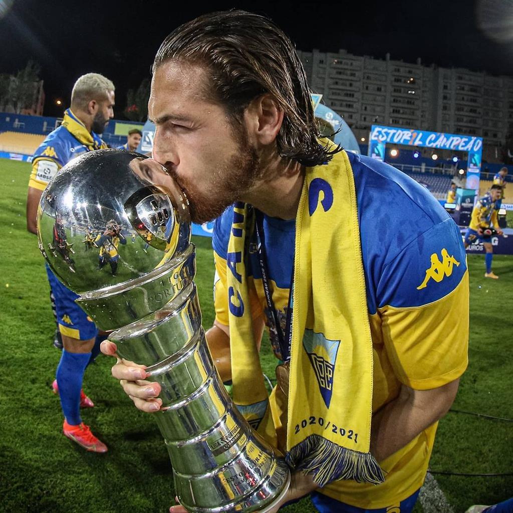 Hugo Gomes foi campeão da II Liga no Estoril. Foto: Instagram
