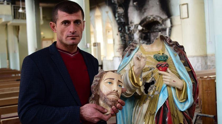 Por onde passaram, jihadistas vandalizaram e destruíram igrejas. Foto: AIS