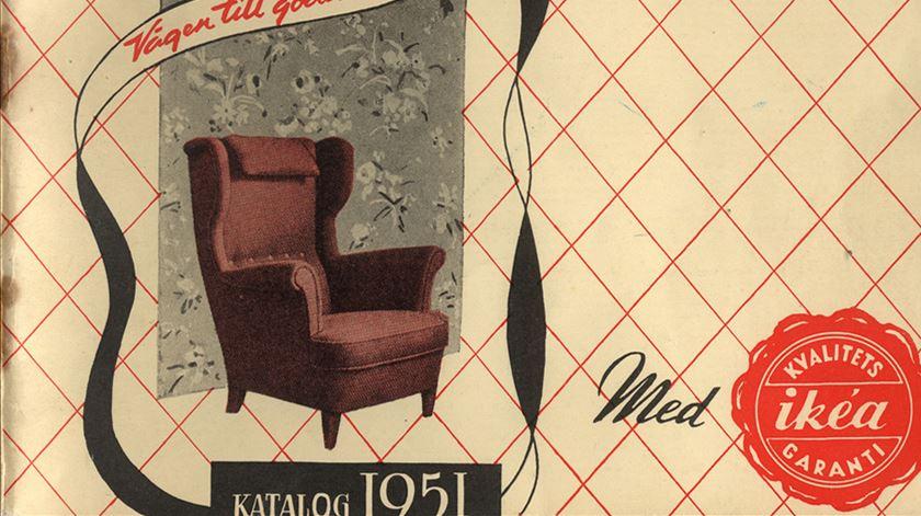 Primeiro catálogo da IKEA foi publicado em 1951. Foto: DR