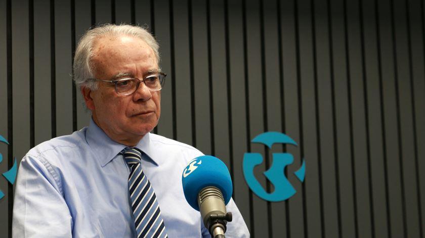 Carvalho da Silva nos estúdios da Renascença. Foto: Marília Freitas/RR