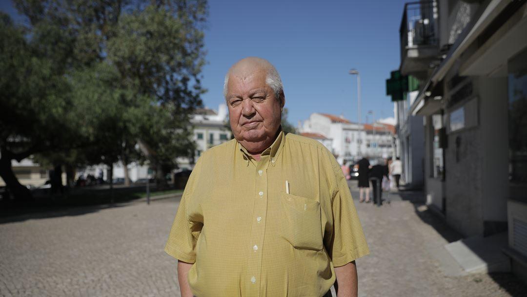 Isidoro Nascimento, apoiante do PSD. Foto: Inês Rocha/RR
