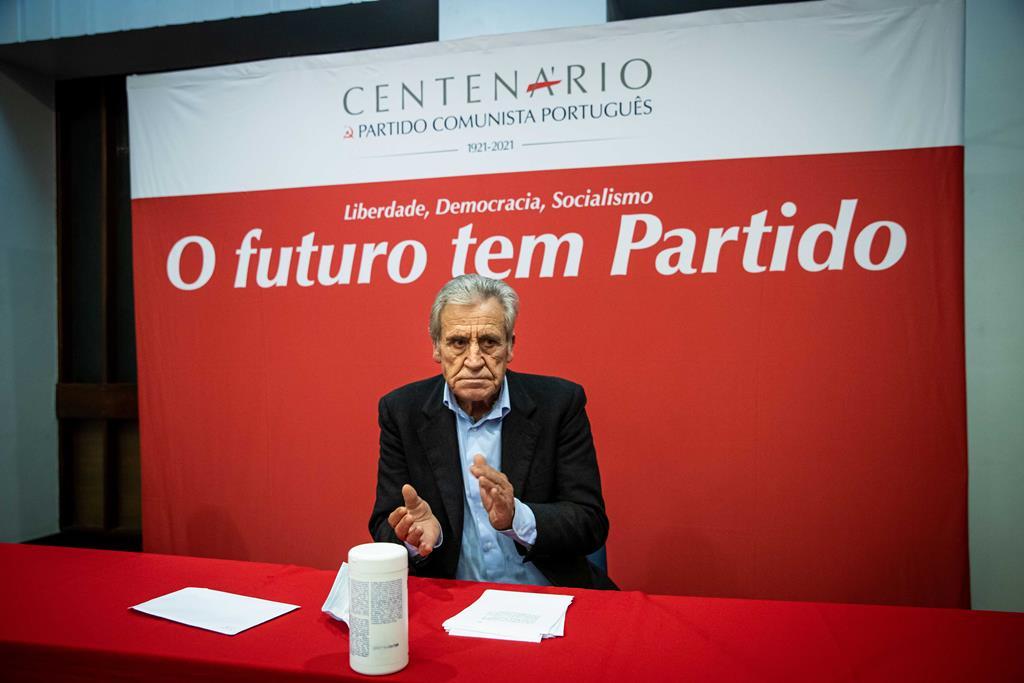 Jerónimo de Sousa acha precipitado falar-se do Orçamento de 2022. Foto: José Sena Goulão/Lusa