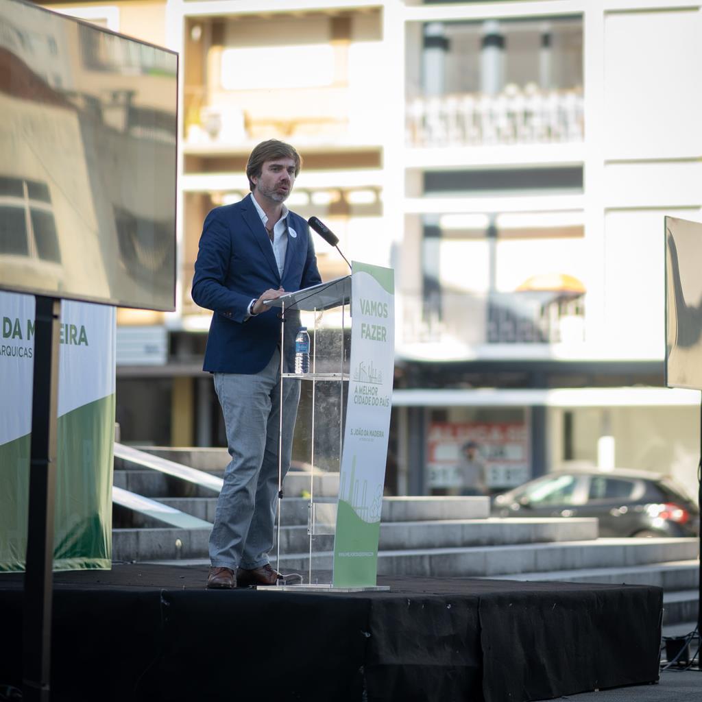 João Almeida promete dedicação total aos sanjoanenses. Foto: DR