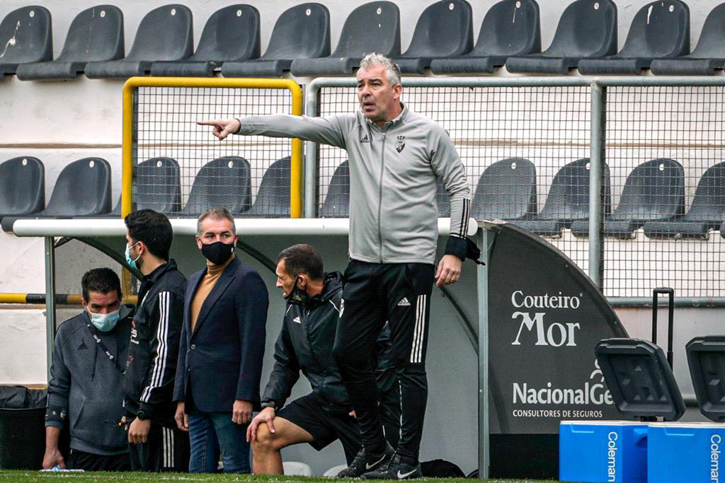 Jorge Costa revoltado com a arbitragem. Foto: Luís Forra/Lusa
