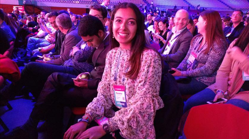 Kauanna Lopes, estudante do Técnico, ganhou um bilhete para ir à Web Summit. Foto: Cristina Nascimento/RR