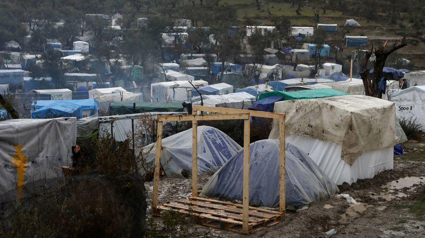 Campo de refugiados de Moria. Foto: Elias Marcou/Reuters