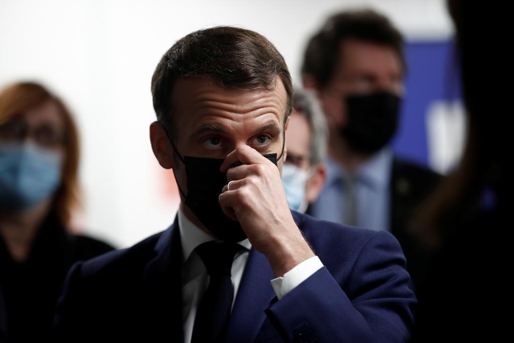 O presidente francês, Emmanuel Macron. Foto: Benoit Tessier/EPA