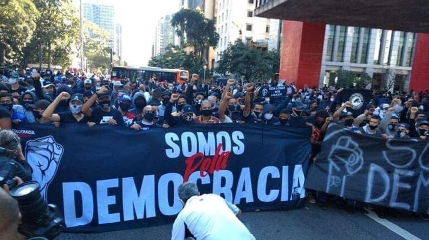Manifestação contra Bolsonaro em São Paulo. Foto: Twitter