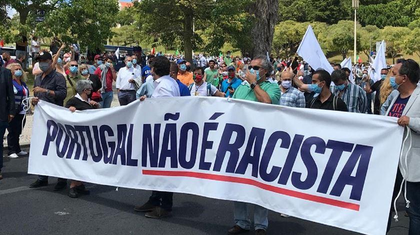 Manifestação do Chega em Lisboa. Foto: Susana Madureira Martins/RR
