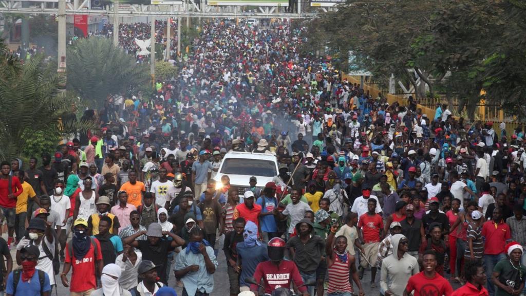 Manifestação no Haiti. Foto: Vaticano