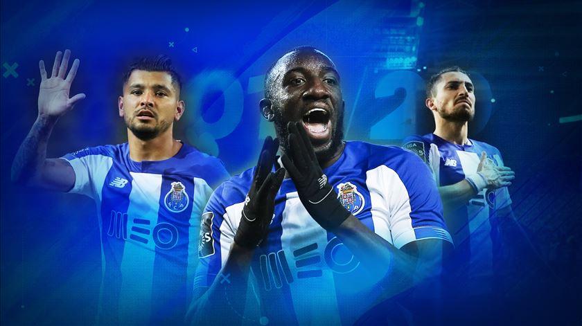 Marega, Corona e Alex Telles destacaram-se no FC Porto. Imagem: Rodrigo Machado/RR