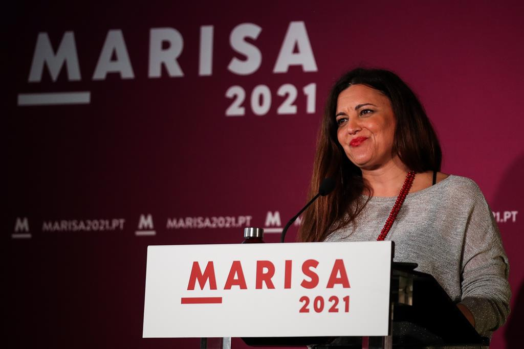 Uma das grandes derrotadas da noite foi Marisa Matias. A bloquista ficou muito abaixo da votação de há cinco anos. Foto: Paulo Novais/Lusa