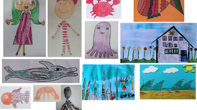"""O projeto """"A Menina do mar"""". Foto: agrupamento de escolas Frei Gonçalo de Azevedo"""