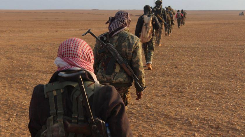 Militares das Forças Democráticas da Síria. Foto: Facebook YPG