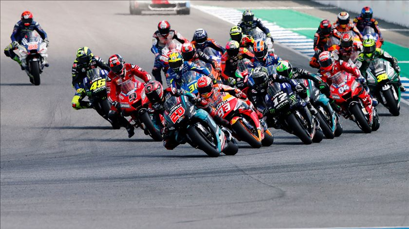 O Mundial de MotoGP será retomado em julho Foto: Soe Zeya Tun/Reuters