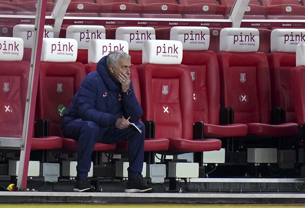 José Mourinho cumpria a segunda temporada no Tottenham Foto: Tim Keeton/EPA