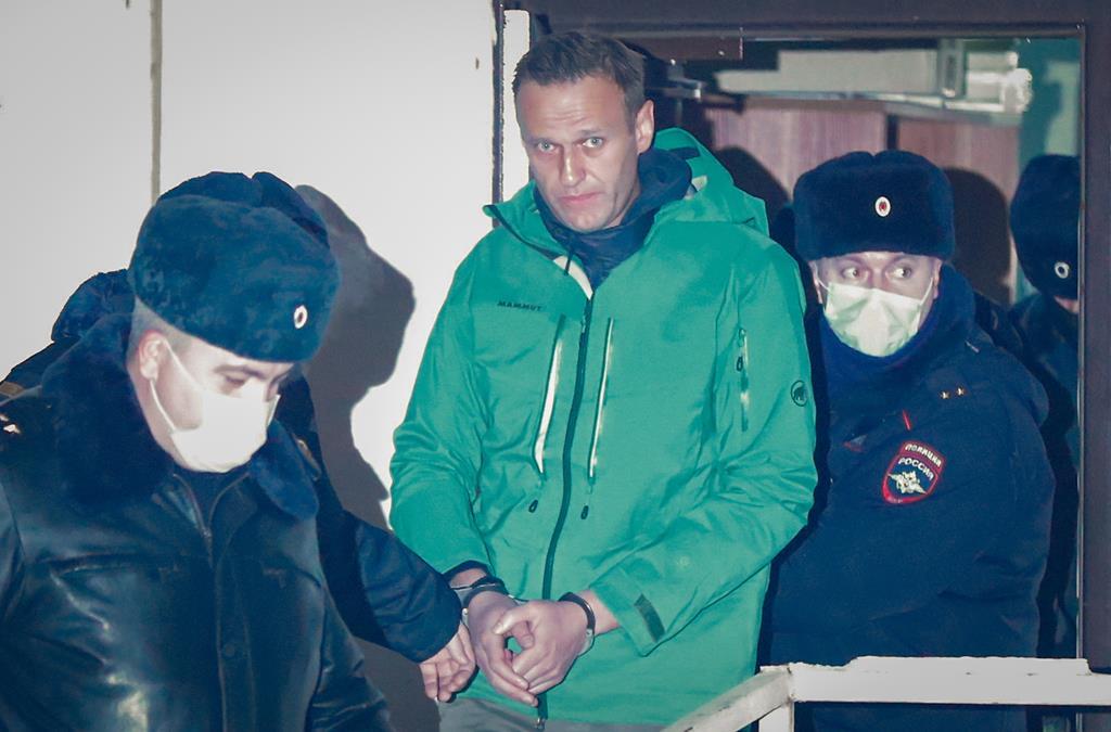 Navalny já perdeu oito quilos com a sua greve de fome. Foto: Sergei Ilnitsky/EPA