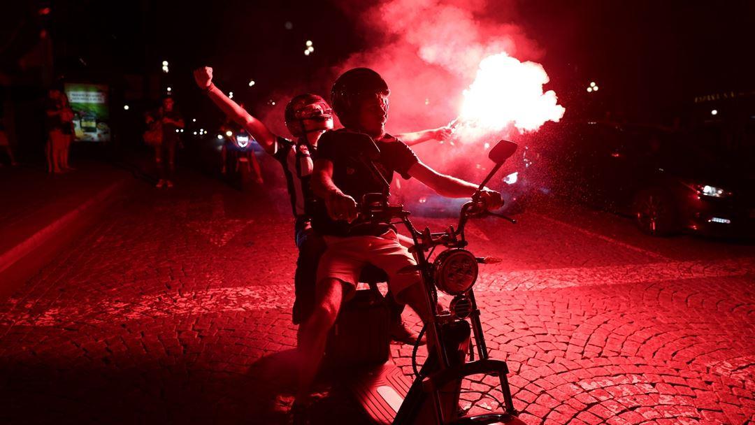 No pyro, no party. Foto: Estela Silva/Lusa