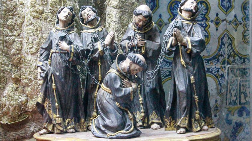 Os cinco mártires franciscanos de Marrocos, cujas relíquias estão em Coimbra. Foto: DR