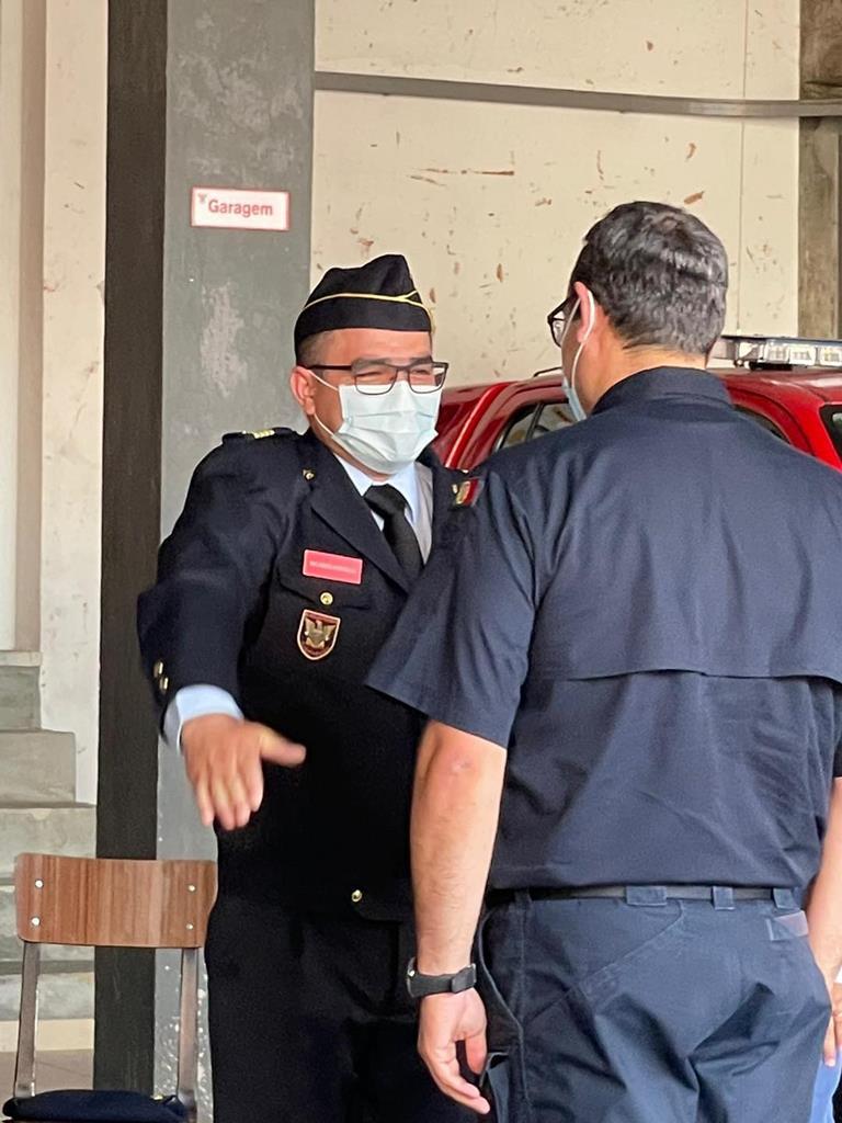 Padre Ricardo Fonseca, de Pinhel, comandante dos Bombeiros Voluntários Pinhelenses. Foto: BVP