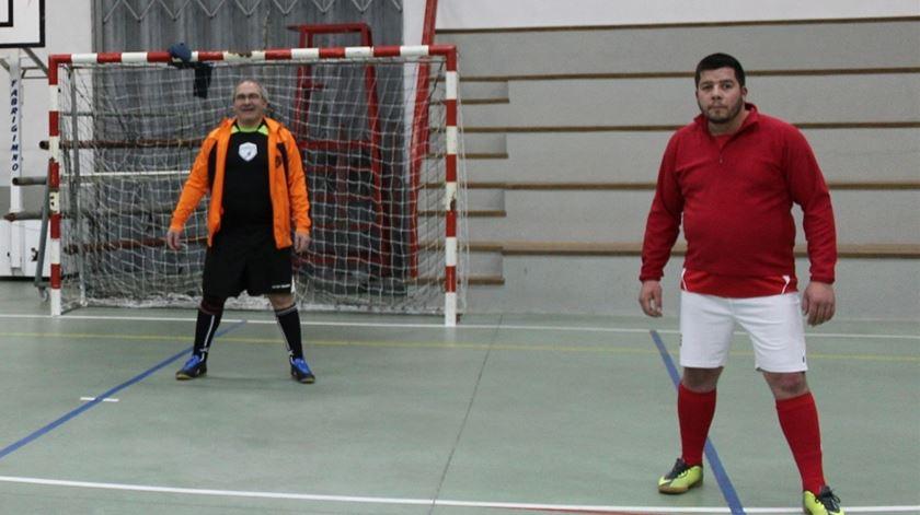 Futsal é a forma de descomprimir da vida paroquial. Foto: Liliana Carona/RR