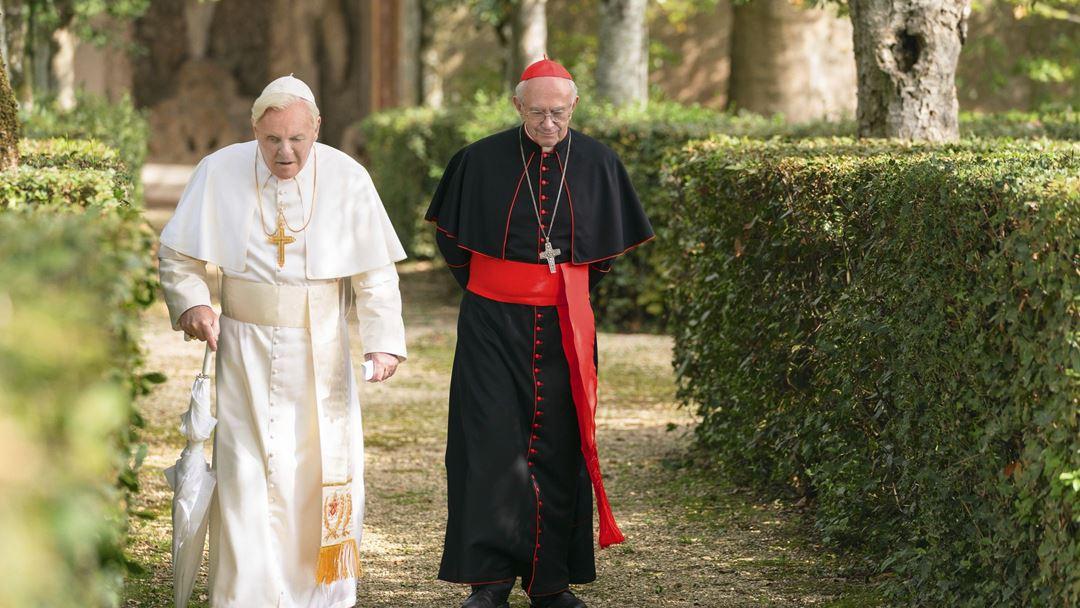Encontro dos dois Papas em Castel Gandolfo. Foto: Netflix