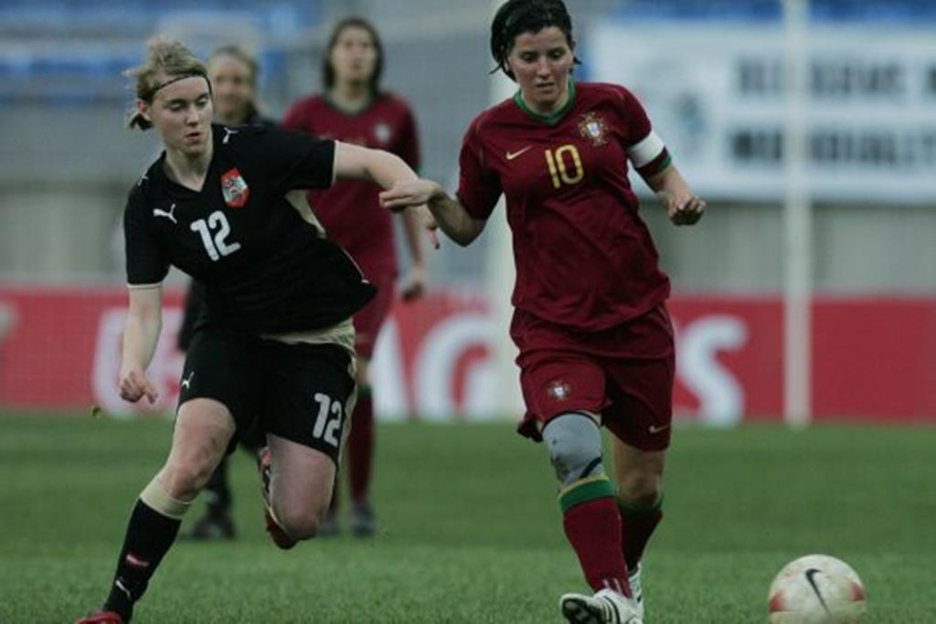 Paula Cristina ao serviço da seleção nacional. Foto: FPF