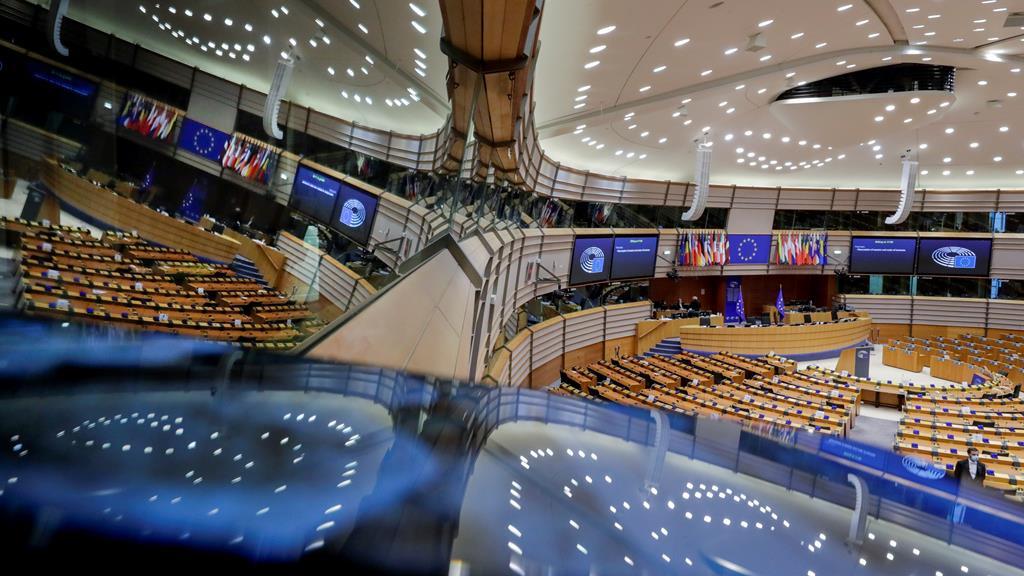 Parlamento Europeu em Bruxelas. Foto: Olivier Hoslet/EPA
