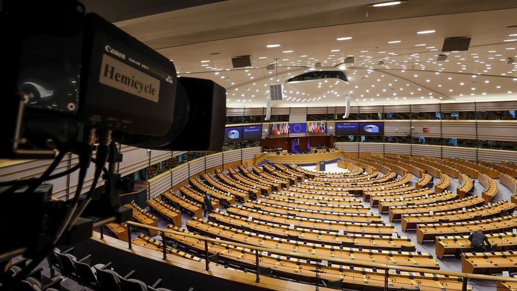 hemiciclo do Parlamento Europeu em Bruxelas Foto: Olivier Hoslet/EPA